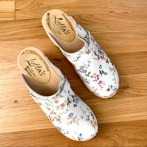 Lotta from Stockholm White Floral Classic Clogs 38